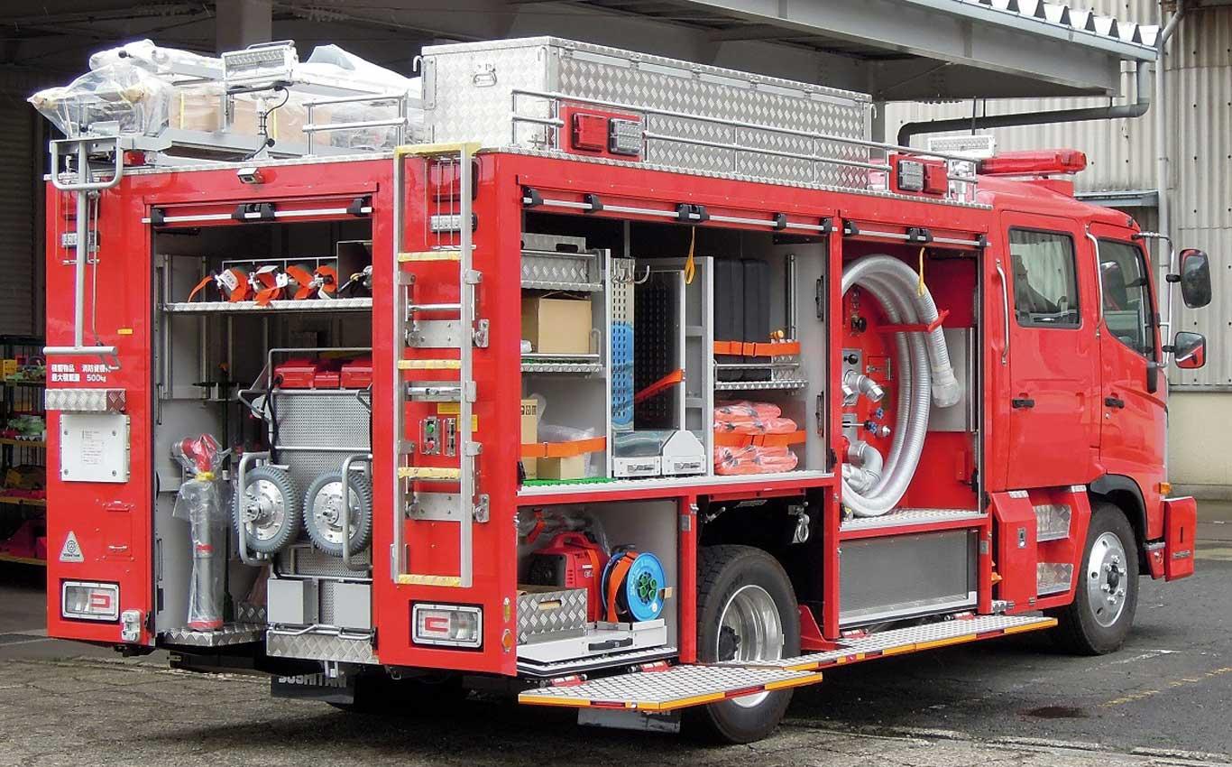 消防ポンプ車