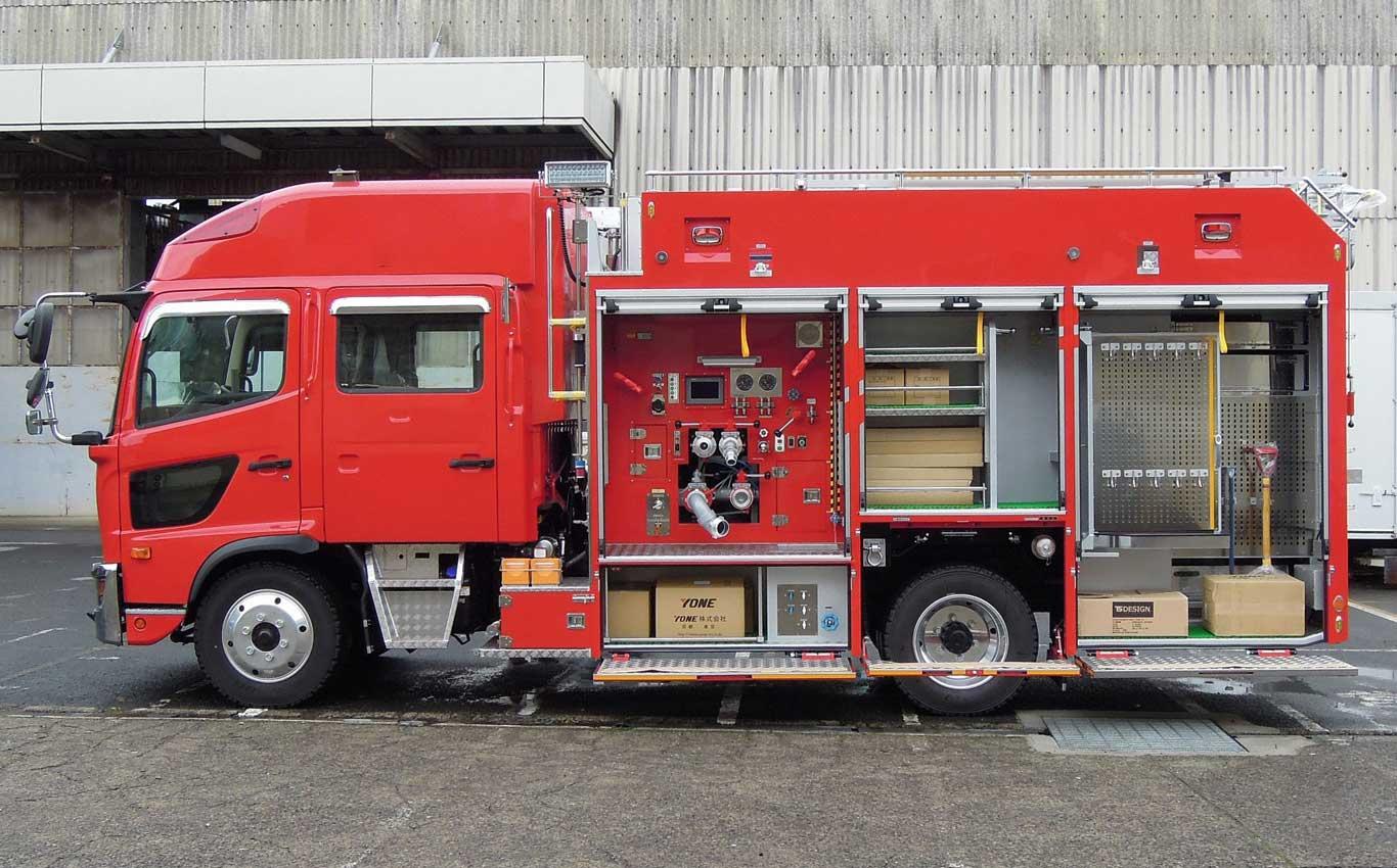 水槽付消防ポンプ車